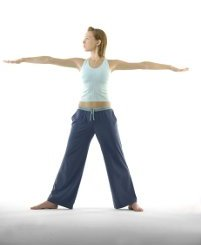 standing twist exercise for love handles