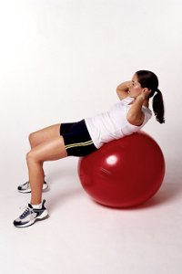 love handle exercise using exercise ball