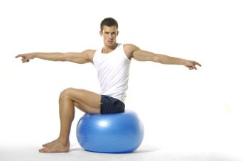 twist love handle exercise using exercise ball